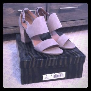 Like New Taupe Cutout Booties Sandals
